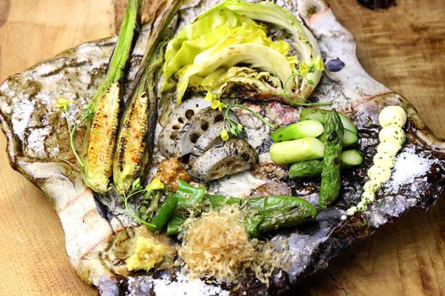 紀州備長炭 旬野菜の炭焼き盛り合わせ3〜5種